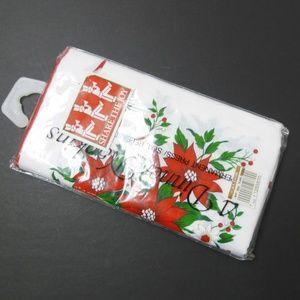 VTG 90s Christmas table napkins . set of 4
